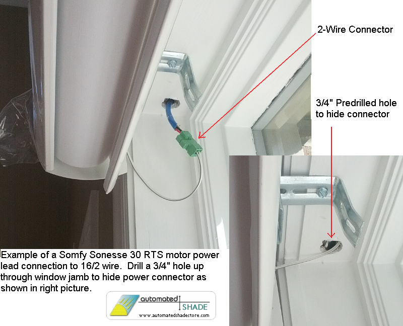 automated shade recessed shade pocket pre wiring shade motor